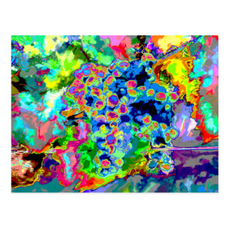 Pretty Grape Abstract water color post card
