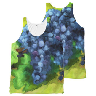 Pretty Grape Abstract water color tank top