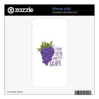 Pretty Grape Skins For iPhone 4S