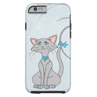 Pretty Gray Female Cat W/Blue Eyes Tough iPhone 6 Case