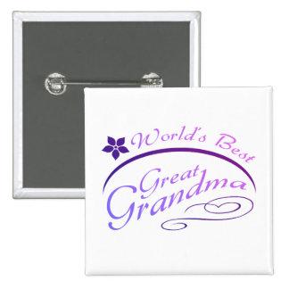 Pretty Great Grandma Gift (purple) Pinback Button