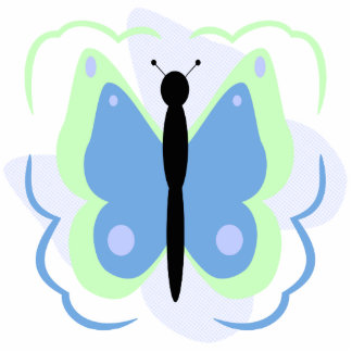 Pretty Green And Blue Butterfly Ornament