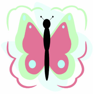 Pretty Green And Pink Butterfly Ornament