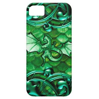 Pretty Green Fantasy Dragon Scales Medieval iPhone SE/5/5s Case