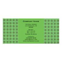 Pretty Green Floral Pattern Rack Card