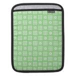 Pretty Green Flower Patchwork Quilt Pattern iPad Sleeve