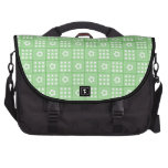 Pretty Green Flower Patchwork Quilt Pattern Laptop Bags