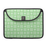 Pretty Green Flower Patchwork Quilt Pattern Sleeves For MacBook Pro