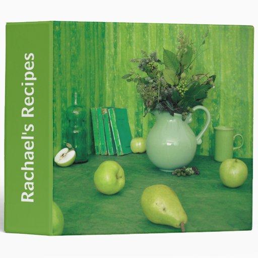 Pretty Green Kitchen Recipe Binder