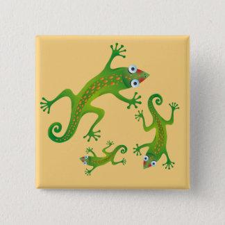 Pretty green Lizards, lizard Button
