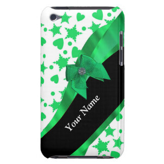 Pretty green modern spotted pattern barely there iPod case