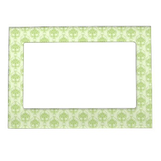 Pretty green on green damask magnetic picture frame