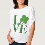 Pretty Green Shamrock Love T-Shirt