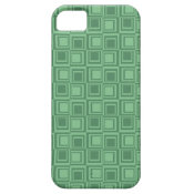 Pretty Green Squares Retro Pattern Gifts iPhone 5 Case