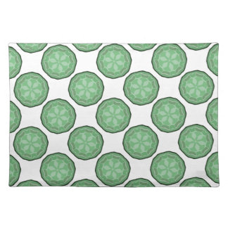 Pretty Green & White Designer Placemat Gift