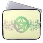 Pretty greenery pentacle laptop sleeve