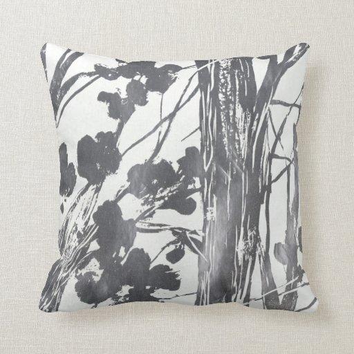pretty grey and white pillow zazzle. Black Bedroom Furniture Sets. Home Design Ideas