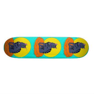 Pretty Grey Kitty Skateboard