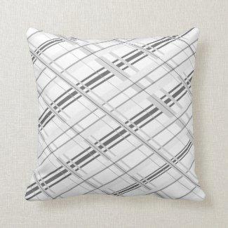 Pretty Grey Plaid Pillow