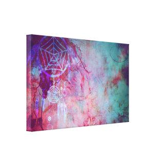 Pretty Grunge Dream Catcher Design Canvas Print