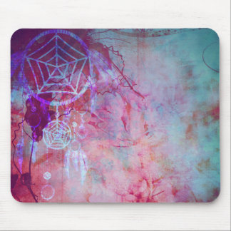 Pretty Grunge Dreamcatcher Design Mouse Pad