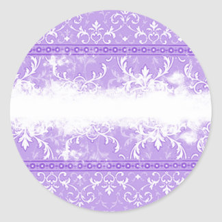 Pretty Grunge Look Ornate Purple Cards, Stickers