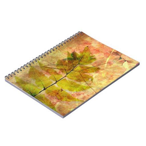Pretty grungy fern leaf notebook