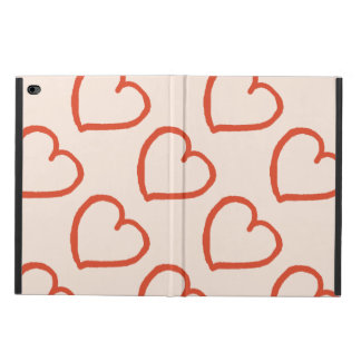 Pretty hand drawn hearts design red on pink powis iPad air 2 case
