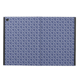 Pretty hand drawn hearts design white on dark blue powis iPad air 2 case