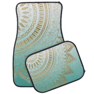Pretty hand drawn tribal mandala elegant design car mat