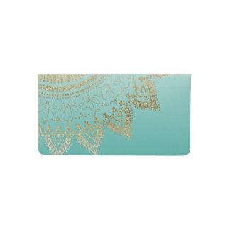 Pretty hand drawn tribal mandala elegant design checkbook cover