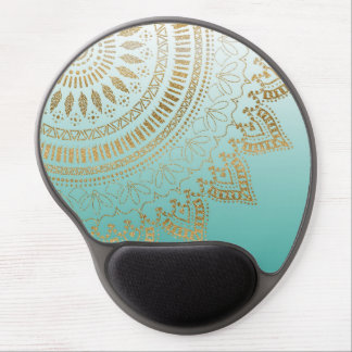 Pretty hand drawn tribal mandala elegant design gel mouse pad