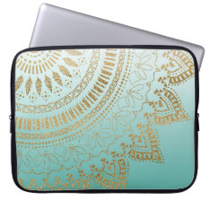 Pretty Hand Drawn Tribal Mandala Elegant Design Laptop Sleeve at Zazzle