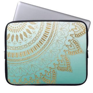 Pretty hand drawn tribal mandala elegant design laptop sleeve