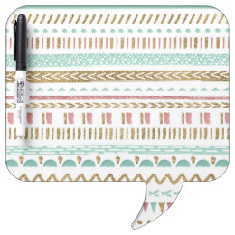 Pretty hand paint tribal Aztec geometric design Dry Erase Board