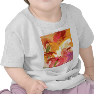Pretty hand painted floral collage bright t shirts