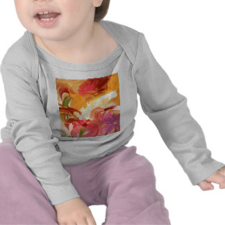 Pretty hand painted floral collage bright tshirts