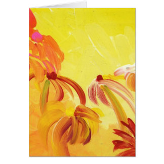 Pretty Handpainted Flowers Card