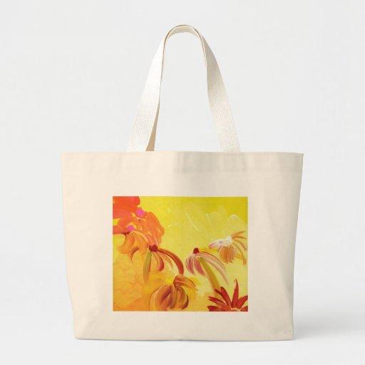 Pretty Handpainted Flowers Large Tote Bag