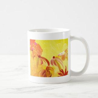 Pretty Handpainted Flowers Mugs