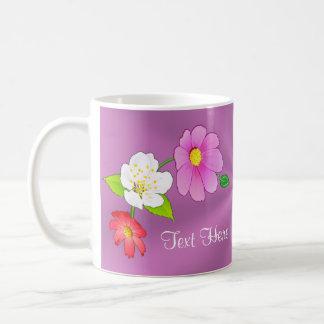 Pretty Hawaiian Floral Mug PERSONALIZED