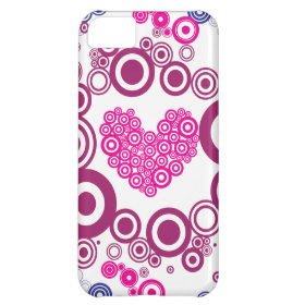 Pretty Heart Concentric Circles Girly Teen Design iPhone 5C Case