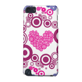 Pretty Heart Concentric Circles Girly Teen Design iPod Touch 5G Cases