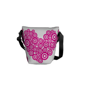 Pretty Heart Concentric Circles Girly Teen Design Courier Bags
