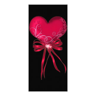 *Pretty Heart* with Ribbons Design Rack Card