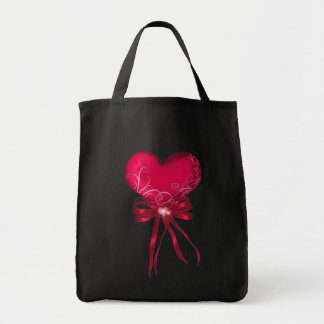*Pretty Heart* with Ribbons Design Tote Bag