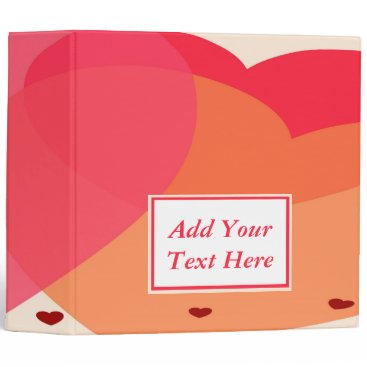"""Professional Business Pretty Hearts 3-Ring Binder 2"""""""