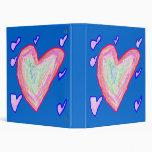 Pretty Hearts 3 Ring Binders