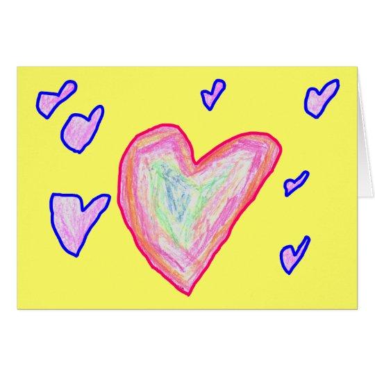 Pretty Hearts Card