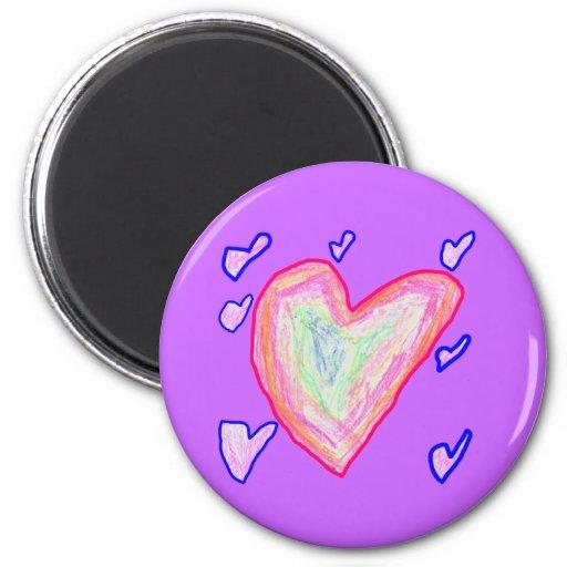 Pretty Hearts Fridge Magnets